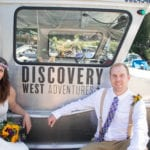 Weddings, Discovery West Adventures, Campbell River, Browns Bay